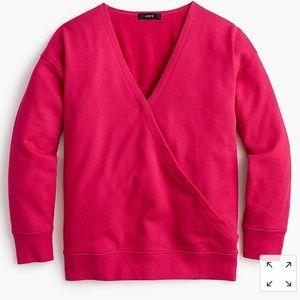 J crew front wrap sweater shirt